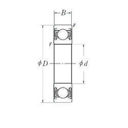 8 mm x 22 mm x 7 mm  SKF BB1-0327 deep groove ball bearings