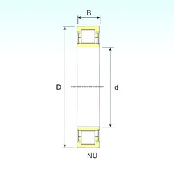 150 mm x 270 mm x 45 mm  ISB NU 230 cylindrical roller bearings