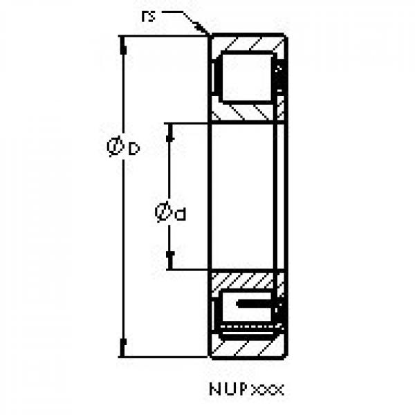 AST NUP230 M cylindrical roller bearings #1 image