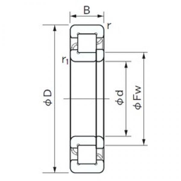20 mm x 47 mm x 14 mm  NACHI NUP 204 cylindrical roller bearings #1 image