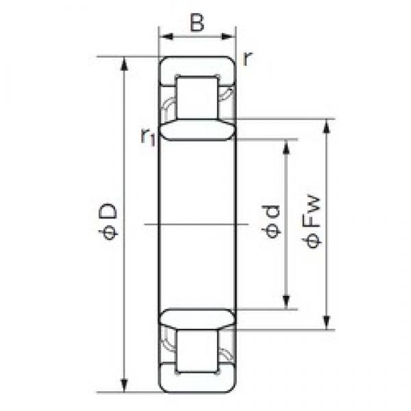 150 mm x 270 mm x 45 mm  NACHI NU 230 cylindrical roller bearings #1 image